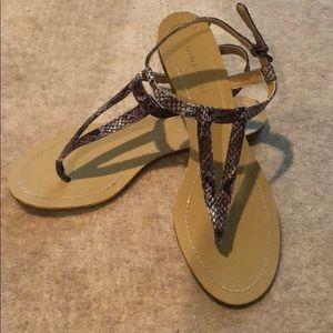 NINE WEST Natural Snake effect Leather Sandals
